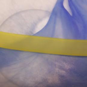 Kautschuk, PVC-Band, Gelb, 15mm x 7cm