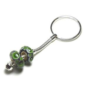 Schlüsselring mit Kette, Silberfarben