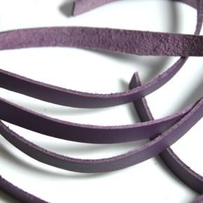 Kunstlederband, Flach, Violett, 10mm, 95cm