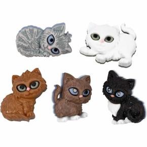 Motivknopf, Katzenkinder, 5 Stück