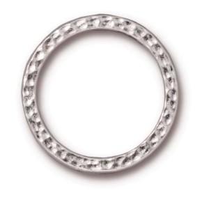 Casting, Ring, Gehämmert, 24mm, Rhodiniert, 1 Stück