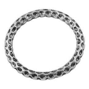 Metallring, Verbinder, Punkte, Antiksilberfarben, 24mm, 1 Stück