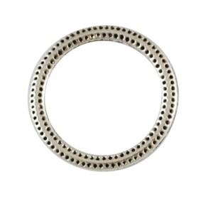 Metallring, Verbinder, Punkte, Antiksilberfarben, 27mm, 1 Stück