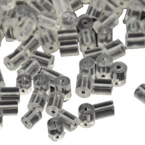 Gummistopper, Ohrringe, Stöpsel, Transparent, 200 Stück