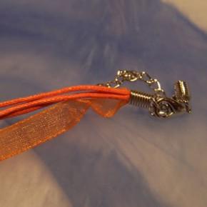 Collier, Organza, Orange