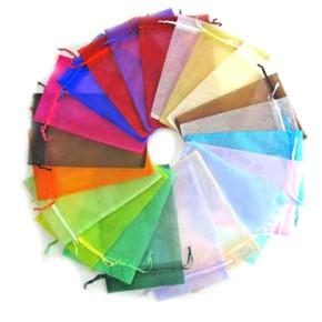 Organzabeutel, Multifarbig, Set 2, 12/9cm, 50 Stück