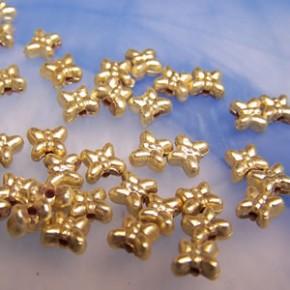 Plastikperlen, Schmetterling, Goldfarben, 10 Stück
