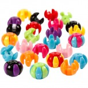 Acrylperlen, Kunststoffperlen, Kombimix, Happy Color, 10 Stück