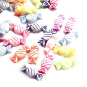 Acrylperlen, Bonbons, Farbmix, 100 Stück