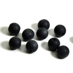 Plasticbead, Schwarz, Matt, 10mm, 10 Stück