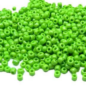Rocailles, 2mm, opak, Erbsgrün, 20g