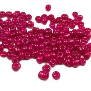 Rocailles, 3-4mm, opak, Pink, 20g