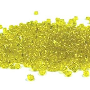 Rocailles, 2mm, Gelb, Silbereinzug, 20g