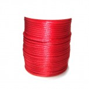 Satinkordel, Rot, Glänzend, 2mm, 1 Meter