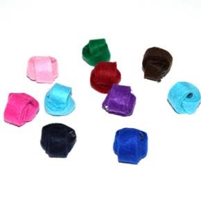 Mix Stoffperlen, Wickelperlen, Multifarbig, Klein, 5 Stück