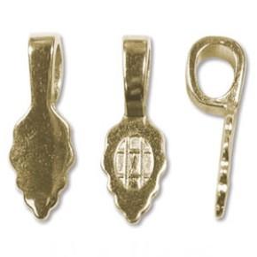 Kettenslide, Objekthalter, Vergoldet, 25mm, 2 Stück