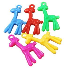 Acryl-Anhänger, Giraffe, Farbenmix, 5 Stück
