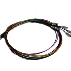 Edelstahlcollier offen, Multicolor, 50cm, 10 Stück
