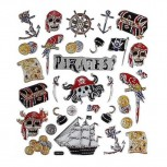 Fancy Sticker, 15x16,5 cm, Piraten, 1 Blatt