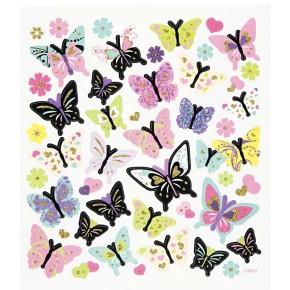 Papiersticker, 15x16,5 cm, Schmetterlinge, 1 Blatt