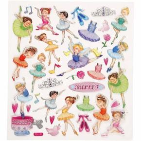 Fancy Sticker, 15x16,5 cm, Ballerina, 1 Blatt