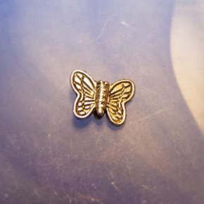 Metallperle, Schmetterling, Tibetan Silber, 1 Stück