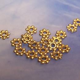 Metallperle, Blümchen, 4mm, Spacer, Antik Silberfarben, 50 Stück