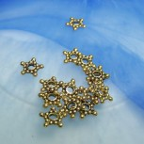 Metallperle, Sternscheibe, 9mm, Goldfarben, 50 Stück