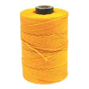 Irisches Gewachstes Leinen, Waxed Linen, Dottergelb, 4 ply, 10m