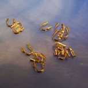 Drahtschutz, Drahtaufpasser, breit, Silber-vergoldet, 10 Stück